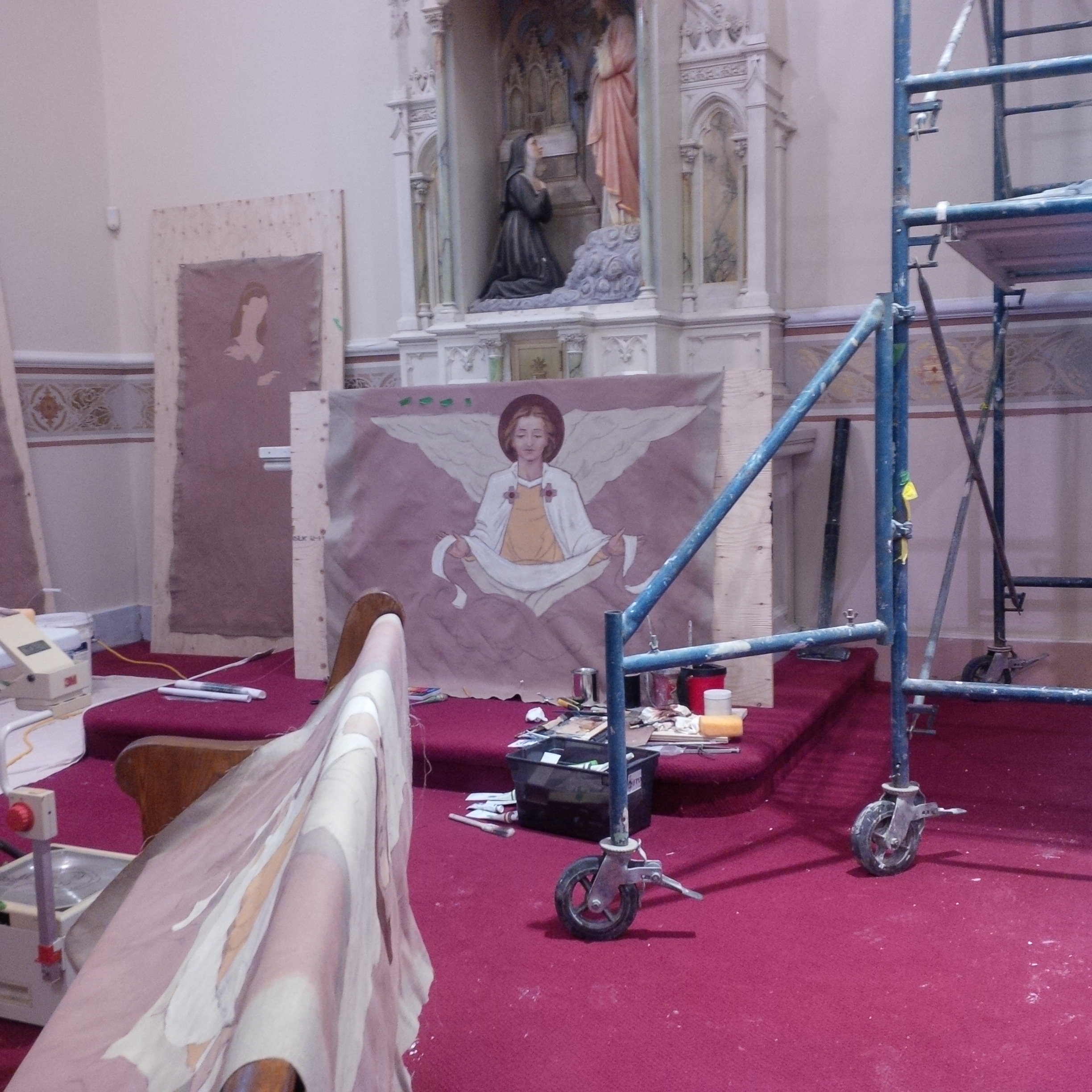 Inside Church Renovations Pics Towards The End!