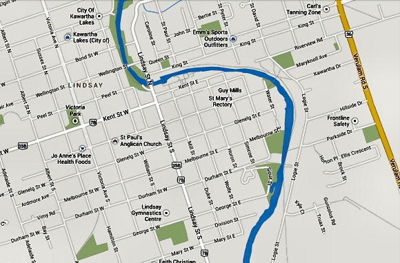 map to st. marys lindsay ontario